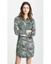 Pam & Gela - Camo Shirt Dress - Lyst