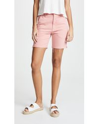 Mother - The Bermuda Prep Snippet Fray Shorts - Lyst