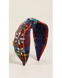 NAMJOSH - Rainbow Plaid Headband - Lyst