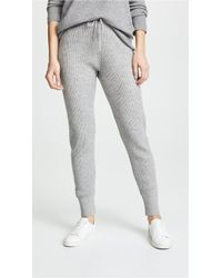 Vince - Ribbed Joggers - Lyst