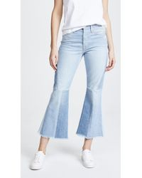 FRAME - Panel Block Cropped Jeans - Lyst