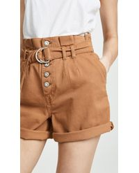 b30e66b0c4 Free People Magdalene Pleated Printed Shorts in Black - Lyst