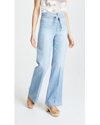 Joe's Jeans - High Rise Belted Flare Jeans - Lyst
