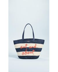 Kate Spade - Shore Thing Out & About Straw Tote - Lyst