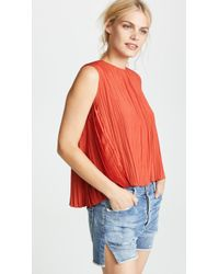 Vince - Pleated Shell - Lyst