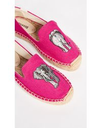 10cf27250f4 Soludos Mimosa Embroidered Smoking Slipper Espadrilles in Gray - Lyst
