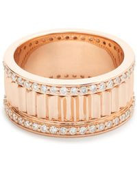 WALTERS FAITH - Clive Small Diamond Fluted Band Ring - Lyst
