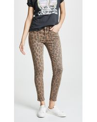 Blank NYC - Leopard Print Skinny Jeans - Lyst