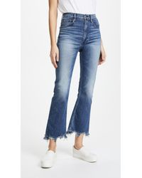 3x1 - Empire Crop Bell Jeans - Lyst
