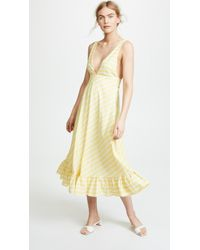 Line & Dot - Ali Ruffled Hem Dress - Lyst