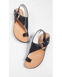 1ec2c2fda4b6d Lyst - Rag   Bone Evin Leather Sandals in Black