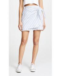 Three Dots - Faux Wrap Skirt - Lyst