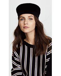 Janessa Leone - Ivette Velvet Cap - Lyst
