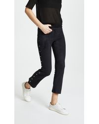 David Lerner - Flare Trousers With Side Snap Detail - Lyst