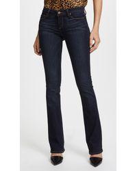 PAIGE Transcend Manhattan Boot Cut Jeans - Blue