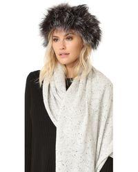 Adrienne Landau - Fur Headband - Lyst