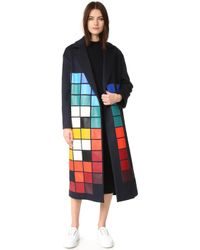Anya Hindmarch - Oversized Space Invaders Coat - Lyst