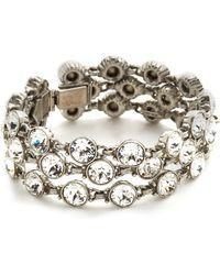 Ben-Amun - Three Row Crystal Bracelet - Lyst