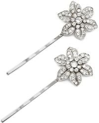 Ben-Amun - Floral Bobby Pin Set Of Two - Lyst