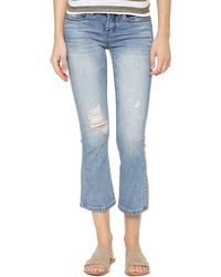 Blank - The Cropped Micro Flare Jeans - Lyst