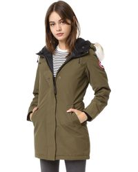 Canada Goose parka replica official - Canada goose Fur-trimmed Down-filled Victoria Parka in Blue ...