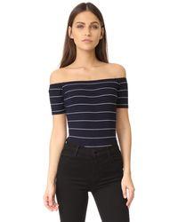 Capulet - Off Shoulder Striped Bodysuit - Lyst