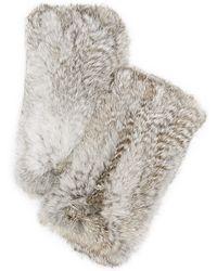 Diane von Furstenberg - Rabbit Fingerless Gloves - Lyst
