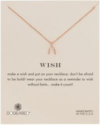 Dogeared - Wishbone Necklace - Lyst