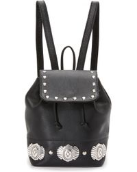 Erin Dana - Mini Leather Drawstring Backpack - Lyst