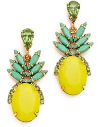 Elizabeth Cole - 'ananas' Pineapple Drop Earrings - Lyst