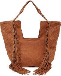 En Shalla - Chain & Fringe Bag - Lyst