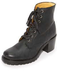 Frye - Sabrina Lace Up Booties - Lyst
