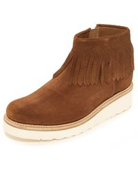 Grenson - Women's Trixie Suede Fringe Boots - Lyst