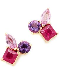 Holly Dyment - Cluster Earrings With Pink Sapphire - Lyst