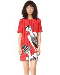 Holly Fulton - Print T-shirt Dress - Lyst