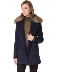 Jenni Kayne - Peacoat With Fur Collar - Lyst