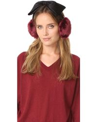 Kate Spade - Earmuffs With Satin Bow - Lyst