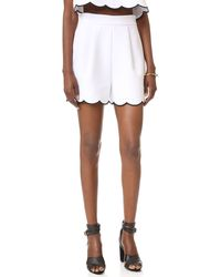 Kendall + Kylie - Scallop Shorts - Lyst