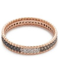 Kismet by Milka - Tricolor Diamond Eternity Ring - Lyst