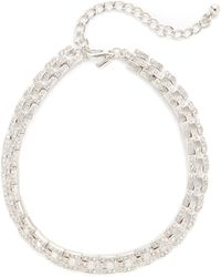Kenneth Jay Lane - Deco Square Link Choker Necklace - Lyst