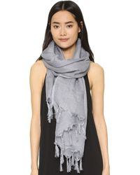 Love Quotes - Linen Fringe Scarf - Lyst