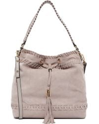 MILLY - Small Whipstitch Hobo Bag - Lyst