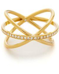 Michael Kors - Pave Criss-cross Ring - Lyst