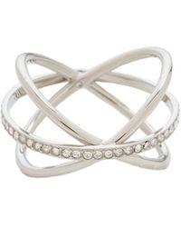 Michael Kors - Pave Crisscross Ring - Lyst