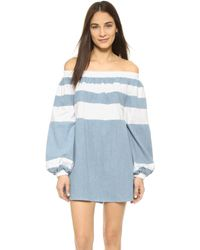MLM Label - Afar Off Shoulder Mini Dress - Lyst