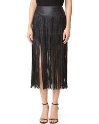 MLM Label - Fringe Faux Leather Skirt - Lyst