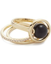 Noir Jewelry - Quasar Ring Set - Lyst