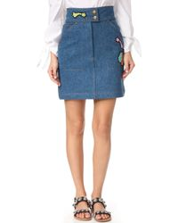 Olympia Le-Tan - Early Pearl Patches Skirt - Lyst