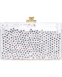 One By - Alphabet Shaker Clutch - Lyst