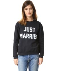 Private Party - Just Married Sweatshirt - Lyst